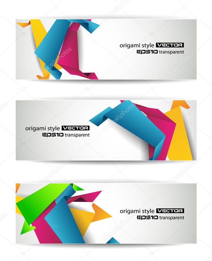 set of abstract modern header banner stock vector 169 davidarts 6713211
