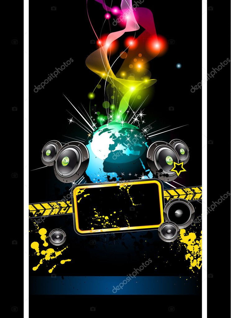 Alternative Disco Flyer for International Music Event  Stock Vector #6717325