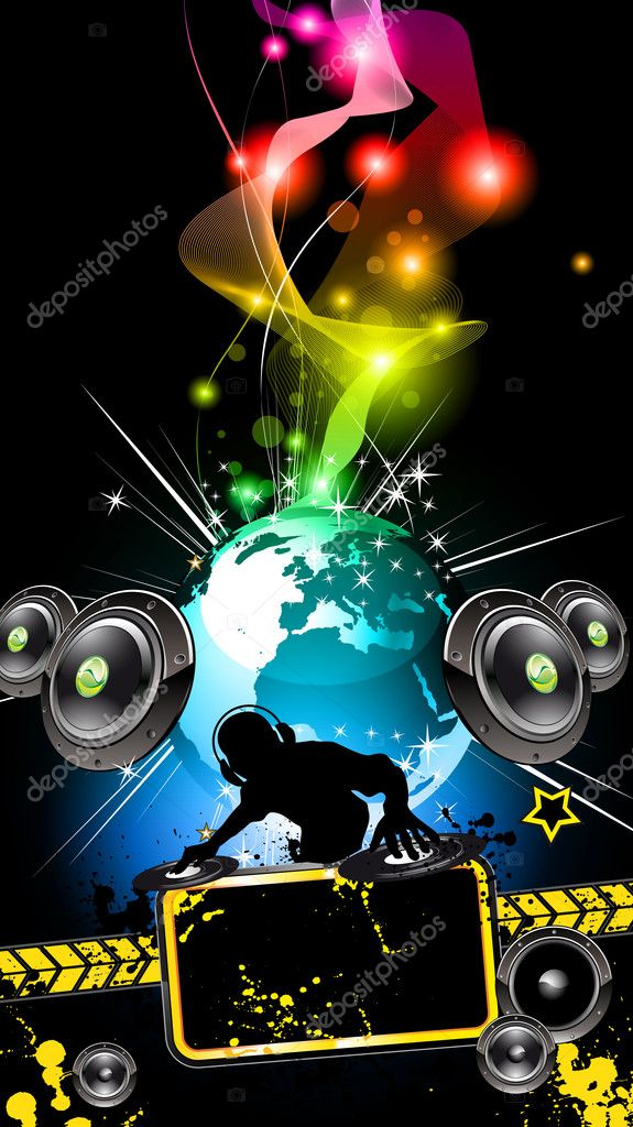 Alternative Disco Flyer for International Music Event — Stock Vector #6717495