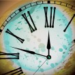 Illustration of Vintage Distressed Clock — Imagens vectoriais em stock