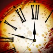 Vintage Distressed Clock Surface Macro - Stok Vektr
