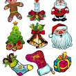 Royalty-Free Stock Vector Image: Christmas Stuff with Colorful Details - Set 1