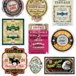 Vintage Labels Collection -Set 15 - Stock Vector