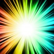 Light Sparkle with Rainbow Colurs - Imagen vectorial