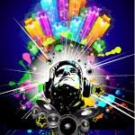Folleto de música alternativa discoteque — Vector de stock