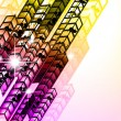 Grungy Colorful Arrow Rainbow Background — Stock vektor