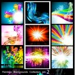 Rainbow Backgrounds Collection - 9 Flyer - Set 2 - Stock Vector