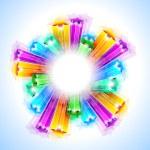 Amazing Rainbow Stars Background — Stock Vector #6724417