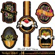 Vintage Labels Black&amp;Gold Version  - Set 14 - Stock Vector