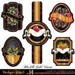 Vintage Labels Black&Gold Version - Set 14 — Stock Vector #6724547