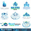 Real Estate Design Elements - Set 1 — Vector de stock