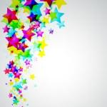 Abstract Rainbow Stars Flyer — Stock Vector #6727458