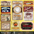 Stockvector : Vintage Labels - Set 11