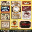 Vintage Labels - Set 11 - Stock Vector