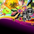 Royalty-Free Stock Vector Image: Tropical Music Event Disco Flyer