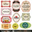 Vintage labels-collectie - 10 in te stellen — Stockvector