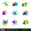 Royalty-Free Stock Vector Image: Splash Grunge Design Elements Collection