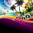Tropical Music Event Disco Flyer — Vetorial Stock #6729786
