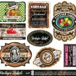 Vintage Labels Collection -Set 8 - Stock Vector