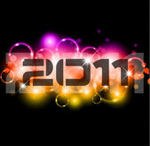 Colorful New Year Celebration Background — Stock Vector