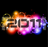 New Year Celebration Background with Glitter and Rainbow Colours — Stock Vector