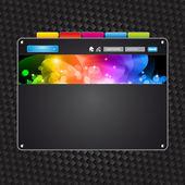 Plantilla de alta tecnología web con colores attrative — Vector de stock