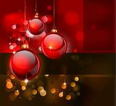 チラシやポスターのためのクリスマスのエレガントな背景 — ストックベクタ