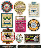 Vintage Labels Collection -Set 15 — Stock Vector