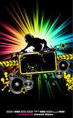 Folheto de música alternativa discoteque — Vetorial Stock