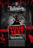 Halloween Grunge Style Flyer — Stock Vector