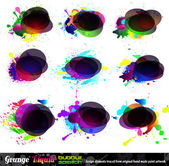 Grunge Bubble Speach Collection - Set 1 — Stock Vector