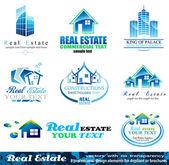 Elementos de diseño inmobiliario - set 1 — Vector de stock