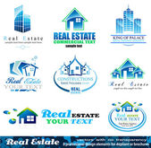 Elementy projektu nieruchomości - zestaw 1 — Wektor stockowy