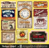 Vintage Labels - Set 11 — Stock Vector