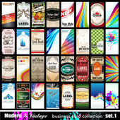 Modern & Vintage Business Card Collection - Set 1 — Stock Vector