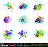 Splash Grunge Design Elements Collection — Stockvector