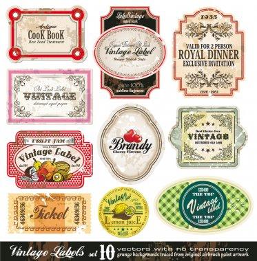 Vintage Labels Collection - Set 10