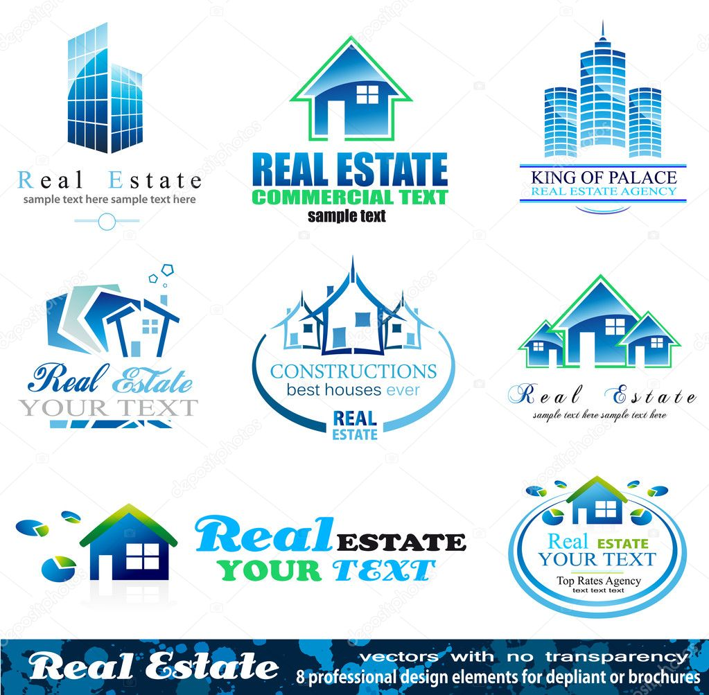 Real Estate Design Elements - Set 1  Stock Vector #6726433