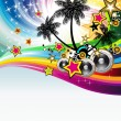 Tropical Disco Dance Background — Stock Vector #6730119