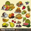 Vintage Colorful Fruits Collection — Stock Vector #6730187