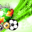 Abstrac World Football ChampionShip Disco Party Flyer Background - Imagens vectoriais em stock
