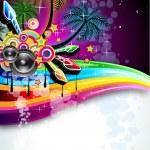 Tropical Disco Dance Background — Stock Vector #6730441
