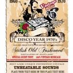 Vintage Disco Flyer — Stock Vector