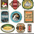 Vintage Labels Collection  -Set 5 - Stock Vector