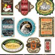 Vintage Labels Collection -Set 5 — Stock Vector