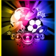 Royalty-Free Stock Vector Image: World Footbal Championship 2010 Background for Party Flyers