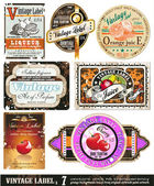Vintage Labels Collection - Set 7 — Stock Vector