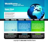 Elegancki szablon strony internetowej w delikatnych kolorach — Wektor stockowy