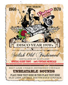 Vintage Disco Flyer — Stock Vector