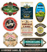 Vintage Labels Collection -Set 6 — Stock Vector